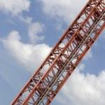 Red crane — Stock Photo