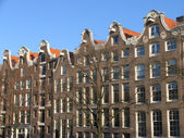 Canal houses in Amsterdam, Holland — Stock Photo