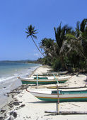 Fishing boats on a Philippine beach — Stock Photo