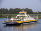 Ferry crossing the river Rhine, Holland — Stock Photo