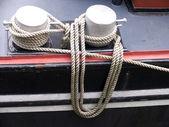 Ropes at a Dutch ship — Stock Photo