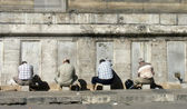 Men washing before praying, Istanbul, Turkey — Stock Photo