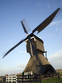 Operating Dutch windmill — Zdjęcie stockowe