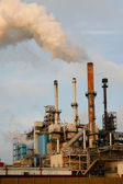 Pollution of refinery, Rotterdam — Stock Photo