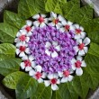 Stock Photo: Balinese flower arrangement