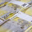 Euro 200 banknotes — Stock Photo