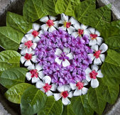 Balinese flower arrangement — Stock Photo