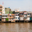 Stock Photo: Slum arein Mytho in Mekong Delta, Vietnam