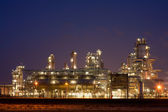 Refinery at night in the Port of Rotterdam, Europoort, Holland — Stock Photo