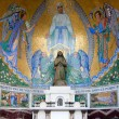 External chapel of the Rosary Basilica in Lourdes, France — Stock Photo