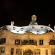 Casa Mila by night, designed by Antoni Gaudi in Barcelona, Spain — Stock Photo #21135413