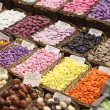 Candy in the Boqueria market in Barcelona, Spain - Stock Photo