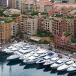 Stock Photo: Monaco cityscape with yachts and apartments