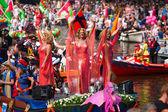 運河のパレード — ストック写真