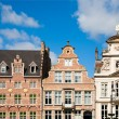 Facade of houses along the Graslei in Ghent, Belgiu — Stock Photo