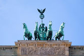 Statue on the Brandenburg Gate — Stock Photo