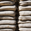 A wall of sandbags — Stock Photo