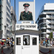 Stock Photo: Checkpoint Charlie in Berlin