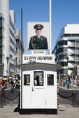 Checkpoint Charlie in Berlin — Stock Photo