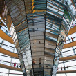 Glass dome of the Reichstag in Berlin — Stockfoto