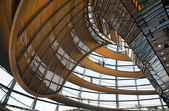 Glass dome of the Reichstag in Berlin — Stock Photo