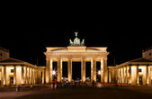 Brandenburg Gate at night in Berlin — Stock Photo