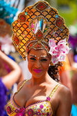 Carnival dancer at the street parade in Rotterdam — Stock Photo