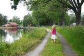 Summer by the canal — Stock Photo