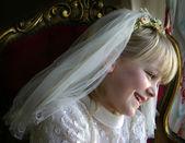 Girl holy communion — Stock Photo