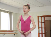 Ballet girl during ballet lesson — Stock Photo