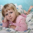Sick girl in bed — Stock Photo #19021073