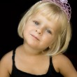 Girl with princess crown — Stock Photo #19033359