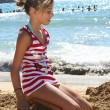 Girl on beach — Stock Photo #19033227