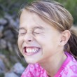 Stock Photo: Girl funny face