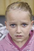 Portrait of sad girl — Stock Photo