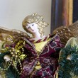 Christmas angel statue — Stock Photo