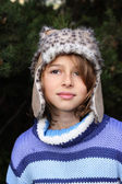 Girl in winter hat — Stock Photo