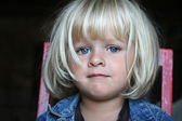 Portrait of a little girl with beautiful eyes — Stock Photo