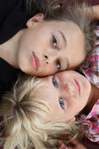 Portrait of two girls — Стоковое фото