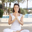 Meditation lady — Stock Photo