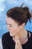 Happy yoga woman — Stock Photo