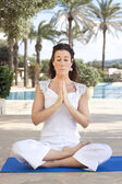 Meditation lady — Foto Stock