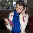 Teenager with tablet - Stock Photo