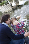 Father and boy — Stock Photo