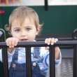 Toddler at playground — Stock Photo