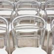 Stock Photo: Row of plastic chairs