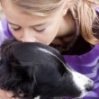 Stock Photo: Child with dog