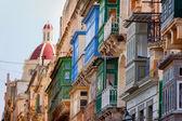 Straat in valletta, malta — Stockfoto