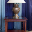 Lamp on table — Stock Photo