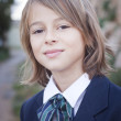 Child in school uniform — Stock Photo